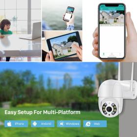 BESDER 3MP PTZ WiFi Kamera Gibanja Dva Glasovno opozorilo Zaznavanje ljudi Zunanja IP kamera Avdio IR Nočni vid Video CCTV Nadzor