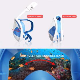 Podvodna potapljaška maska za celotno obrazno potapljanje Maska za dihanje Dihalne maske za varno vodotesno plavanje za odrasle mladino