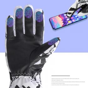Zimske smučarske rokavice Moški šport na prostem Nepremočljive vodotesne smučarske rokavice za deskanje na snegu Moške debele tople zaslon na dotik Kolesarske rokavice
